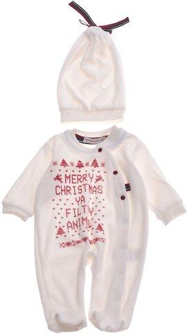 Bonne Baby βρεφικό φορμάκι   σκουφάκι «Merry Christmas» - Παιδικά ρούχα d78923a378c
