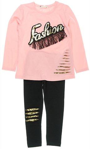 ab006ee9d92 Pengim παιδικό εποχιακό σετ μπλούζα-παντελόνι κολάν «Pink Fashion» -  b2b.AZshop.gr