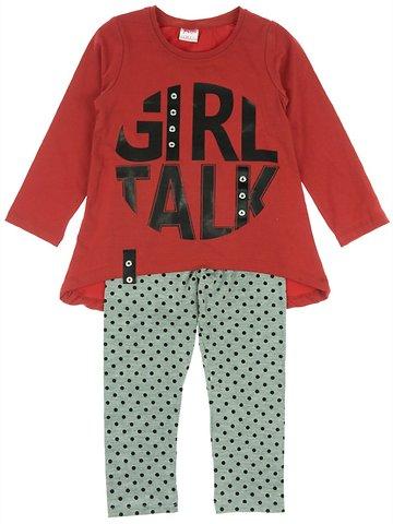 Baby Pink παιδικό εποχιακό σετ μπλούζα-παντελόνι-κολάν «Red Talk» - Παιδικά  ρούχα 16f5ce4f452