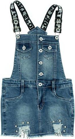 d80ab448acbf Εβίτα παιδικό φόρεμα τζιν σαλοπέτα «Jean and Pearls» - Παιδικά ρούχα ...