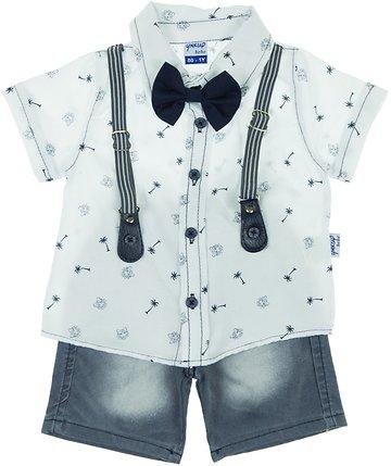 Yakup παιδικό σετ παντελόνι-πουκάμισο-παπιγιόν
