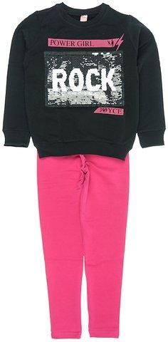 Joyce παιδικό εποχιακό σετ μπλούζα-παντελόνι κολάν «Black Rock ... bbdf11ed3c2