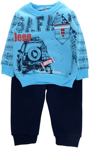 41c93aaa156 Kuculmus βρεφικό σετ φόρμα μπλούζα-παντελόνι «Safari» - b2b.AZshop.gr