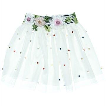53339c70406 Mini Citlenbik παιδική φούστα τουτου «Pearls and Flowers» - Παιδικά ρούχα,  βρεφικά ενδύματα, λευκά είδη για παιδιά AZshop.gr