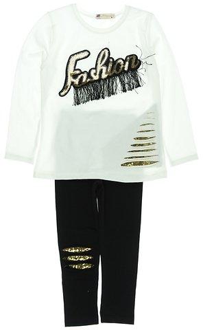 Pengim παιδικό εποχιακό σετ μπλούζα-παντελόνι κολάν «White Fashion» - Παιδικά  ρούχα 924c792c897