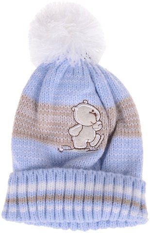 7cef5edeb2dc Pesci πλεκτό βρεφικό σκουφί «Little Bear» - Παιδικά ρούχα