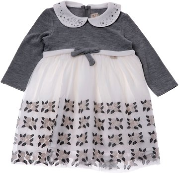 Lilax παιδικό αμπιγιέ φόρεμα «Grey Bow» - Παιδικά ρούχα 5e59ec3d23e