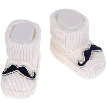 Eda βρεφικές κάλτσες πλεκτές «Dark Blue Mustache» - Παιδικά ρούχα ... ff66d52a200