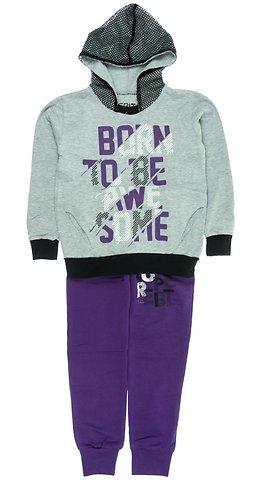 Εβίτα παιδικό σετ φόρμα μπλούζα-παντελόνι «Born to Be Awesome» - Παιδικά  ρούχα 0fd476957aa