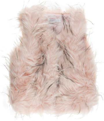 JNS παιδικό γούνινο αμάνικο παλτό «Pink Warm» - Παιδικά ρούχα ... 9c16369c221