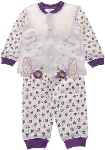 Minice βρεφική πιτζάμα «Purple Butterflies» - Παιδικά ρούχα 92f2646e3eb
