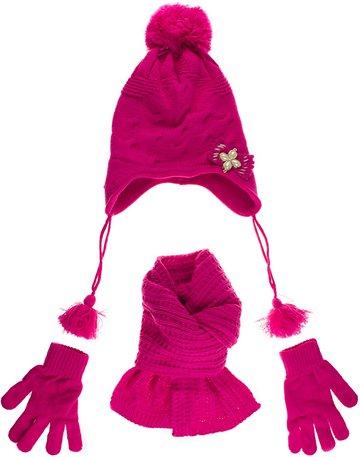 Kitti πλεκτό σετ σκουφί-κασκόλ-γάντια «Fuchsia Fairness» - Παιδικά ρούχα 98cdcec3c5d