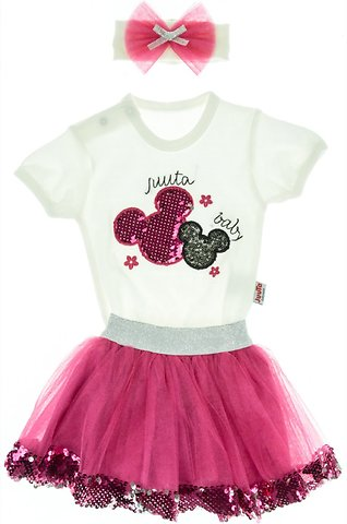 745be832178 Juuta βρεφικό σετ κορμάκι-φούστα-κορδέλα «The Baby Mouse» - Παιδικά ρούχα,  βρεφικά ενδύματα, λευκά είδη για παιδιά AZshop.gr