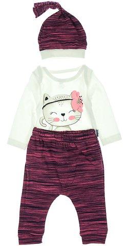Miniworld βρεφικό εποχιακό σετ κορμάκι-παντελόνι-σκουφάκι «Kitten» - Παιδικά  ρούχα 1c41bdcbc6d