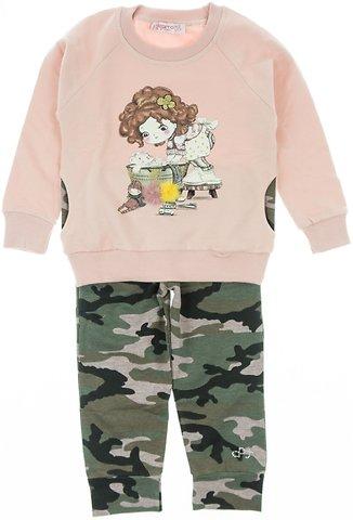 Εβίτα παιδικό σετ φόρμα μπλούζα-παντελόνι «Somon Girl» - Παιδικά ρούχα 7e4991ac1d6