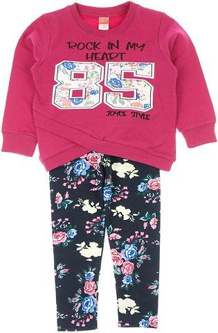 Joyce παιδικό σετ μπλούζα-παντελόνι κολάν «Fuchsia 85» - Παιδικά ρούχα ee77a0f81b0