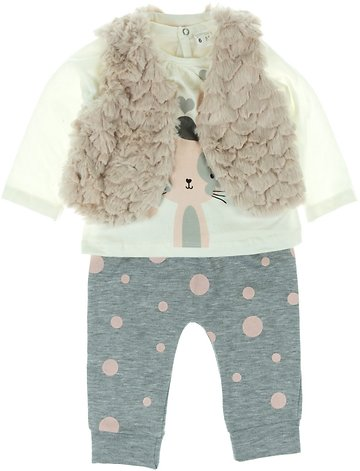 Soso Baby βρεφικό σετ γιλέκο-μπλούζα-παντελόνι «Pink Furry» - Παιδικά ρούχα e9fc95336f7
