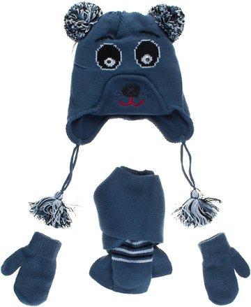 Kitti πλεκτό σετ σκουφί-κασκόλ-γάντια «Bear» - Παιδικά ρούχα ... 73249e7a349