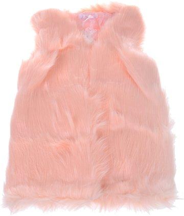 JNS παιδικό γούνινο αμάνικο παλτό «Pink Wintry Weather» - Παιδικά ρούχα d2745bd5e8a